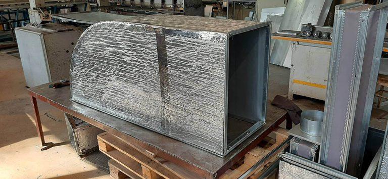 Коляно  с изолация от микропореста гума с алуминиево фолио